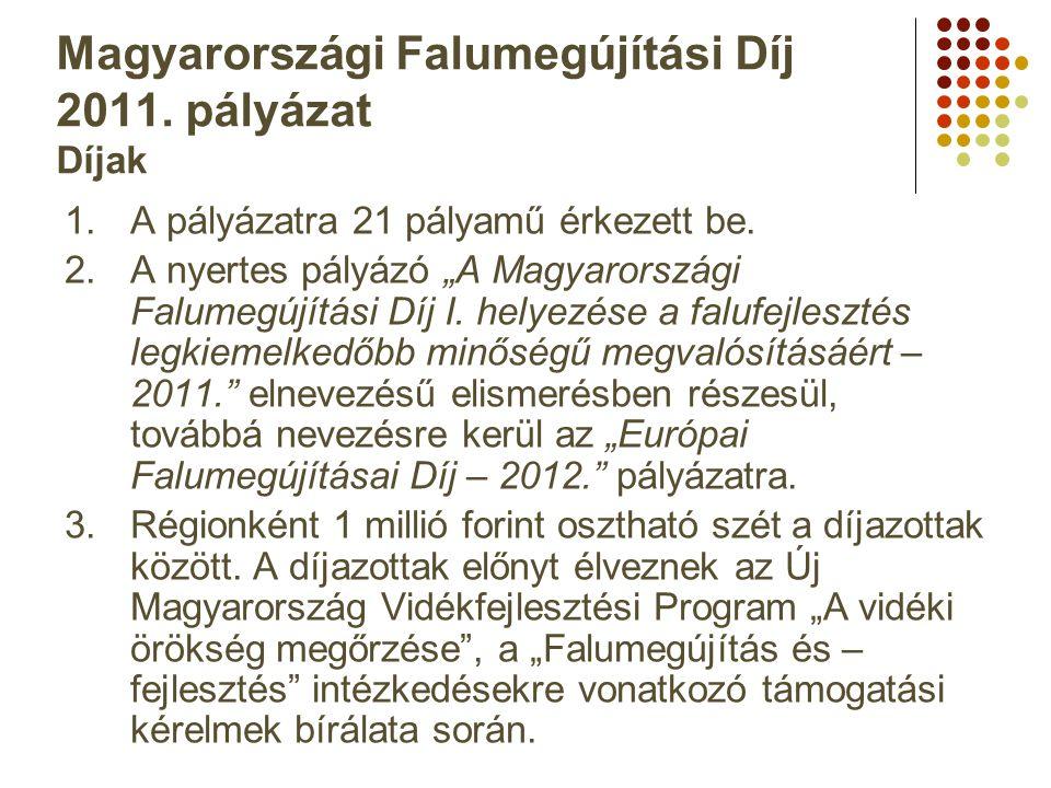 Magyarországi Falumegújítási Díj 2011. pályázat Díjak