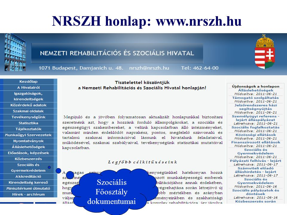 NRSZH honlap: www.nrszh.hu