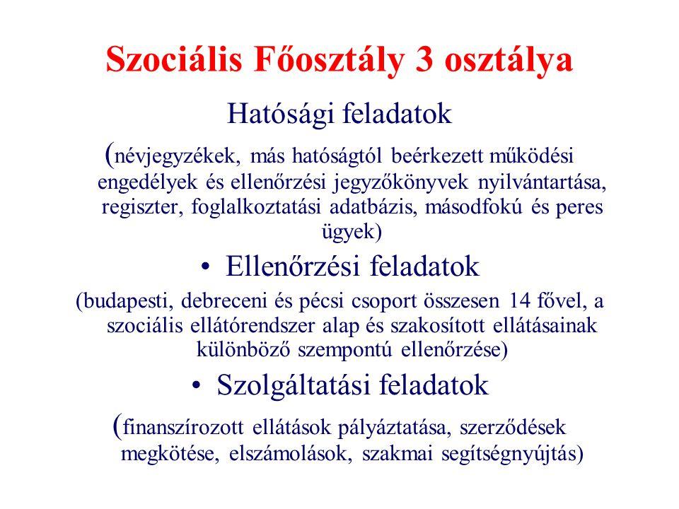 Szociális Főosztály 3 osztálya