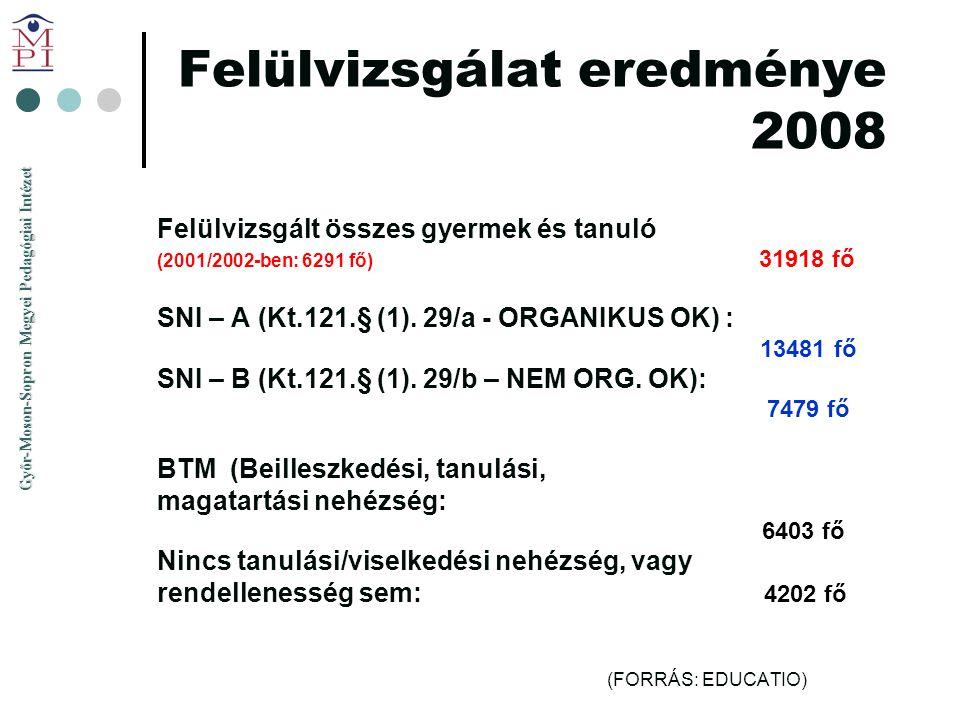Felülvizsgálat eredménye 2008