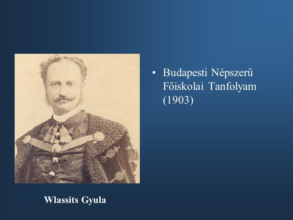 Budapesti Népszerű Főiskolai Tanfolyam (1903)