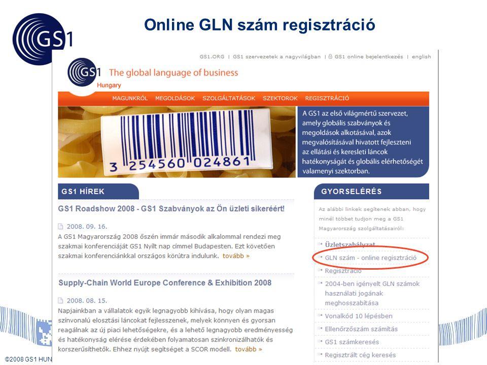 Online GLN szám regisztráció