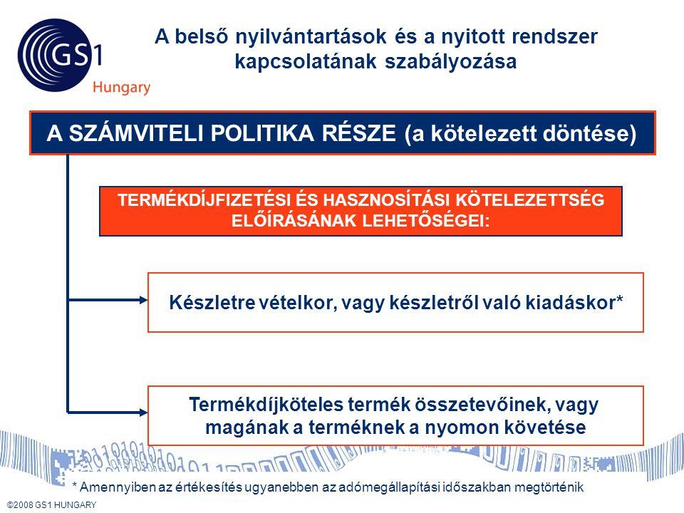 A SZÁMVITELI POLITIKA RÉSZE (a kötelezett döntése)