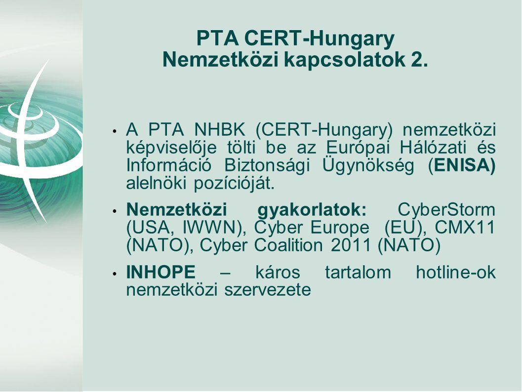 PTA CERT-Hungary Nemzetközi kapcsolatok 2.