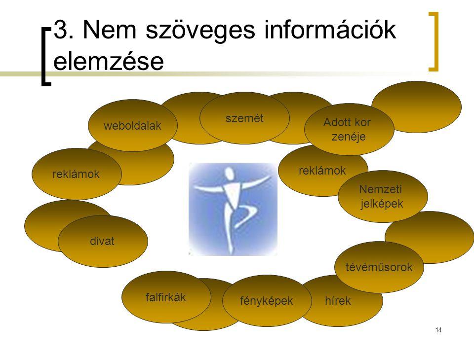3. Nem szöveges információk elemzése