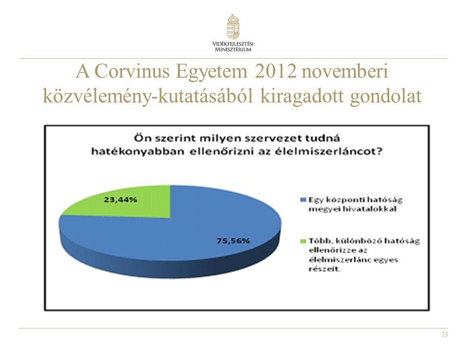 A Corvinus Egyetem 2012 novemberi közvélemény-kutatásából kiragadott gondolat