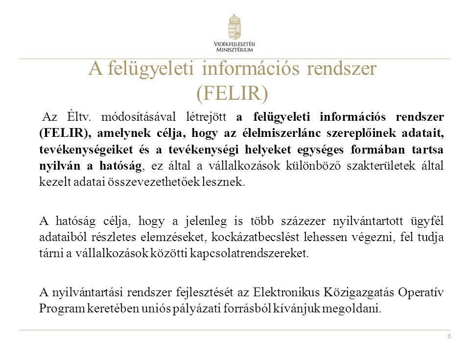 A felügyeleti információs rendszer (FELIR)
