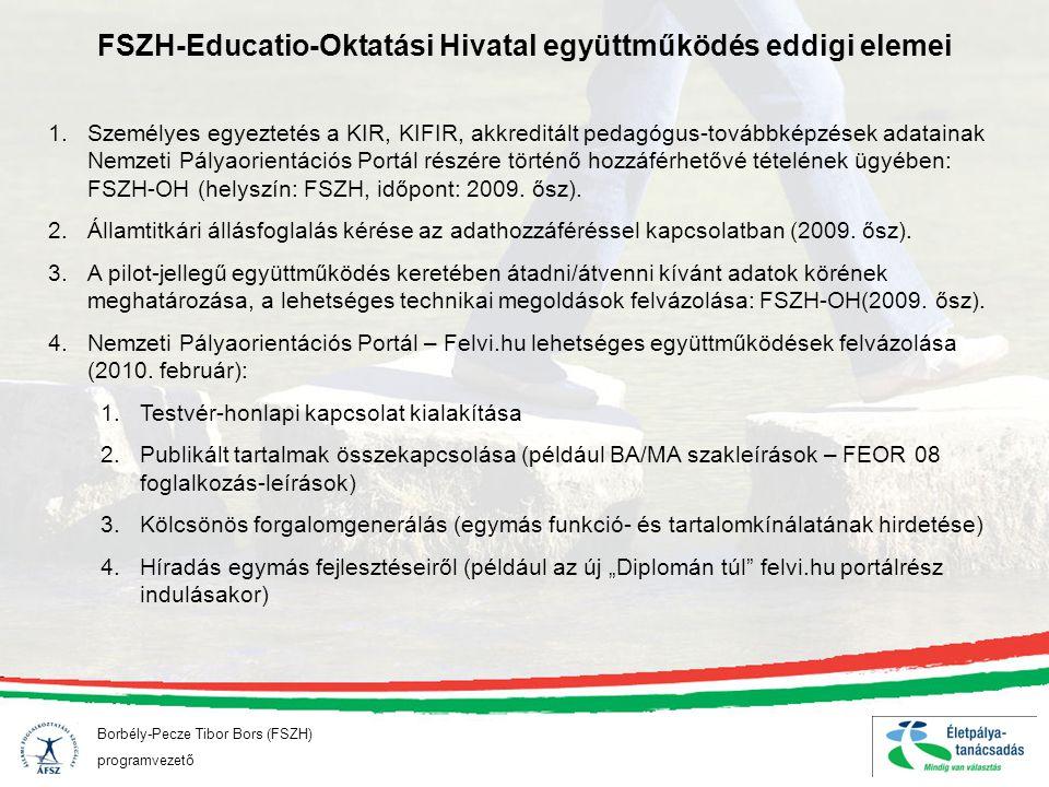 FSZH-Educatio-Oktatási Hivatal együttműködés eddigi elemei