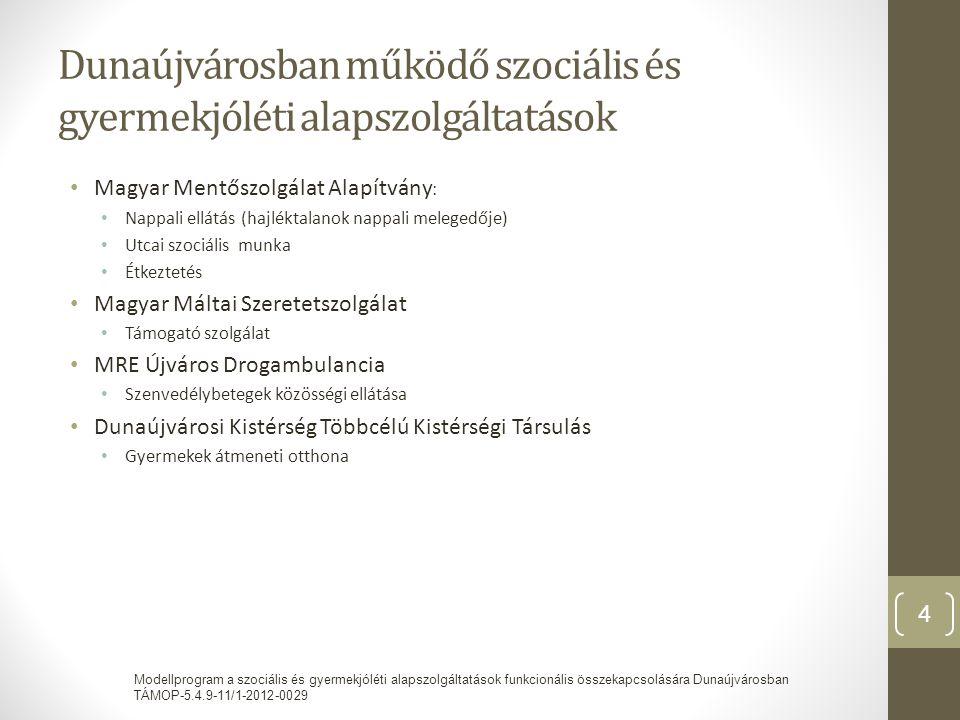 Dunaújvárosban működő szociális és gyermekjóléti alapszolgáltatások