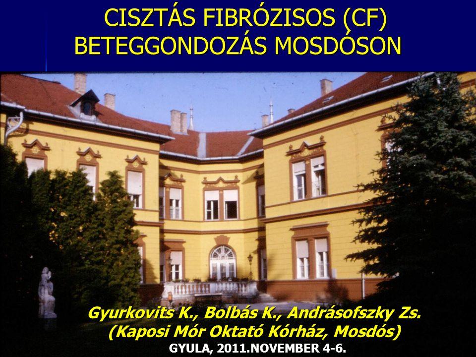 CISZTÁS FIBRÓZISOS (CF) BETEGGONDOZÁS MOSDÓSON