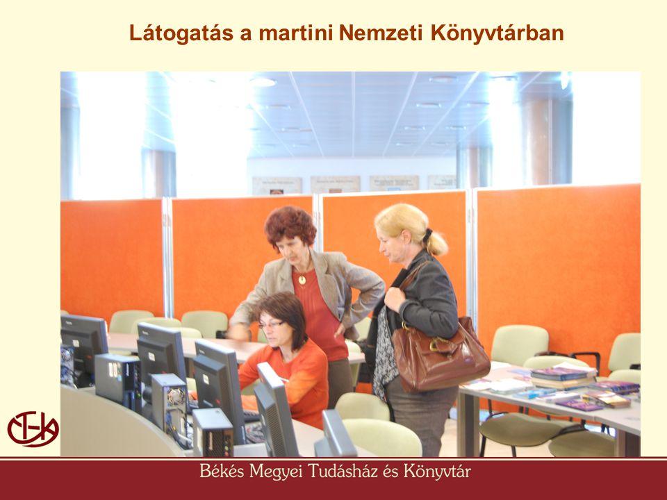 Martin Látogatás a martini Nemzeti Könyvtárban