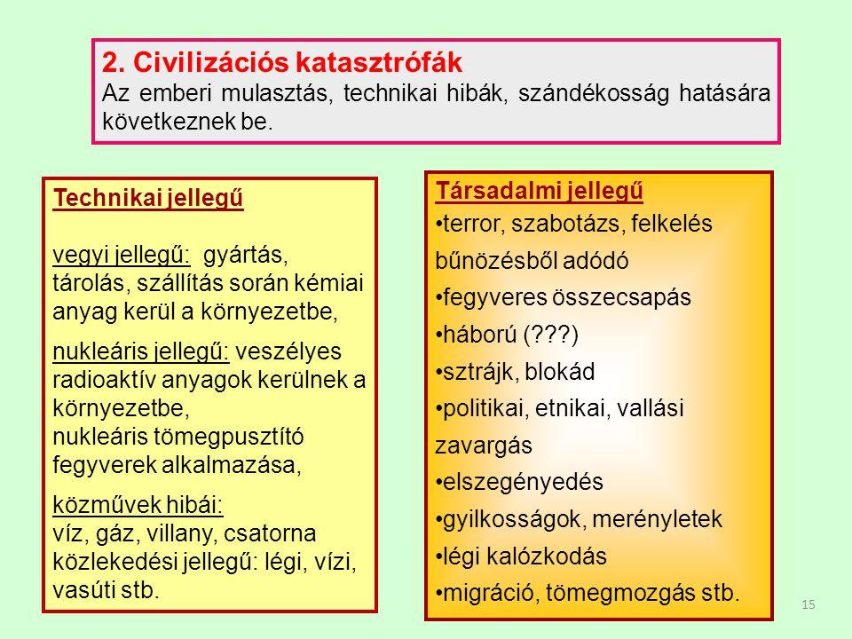 2. Civilizációs katasztrófák
