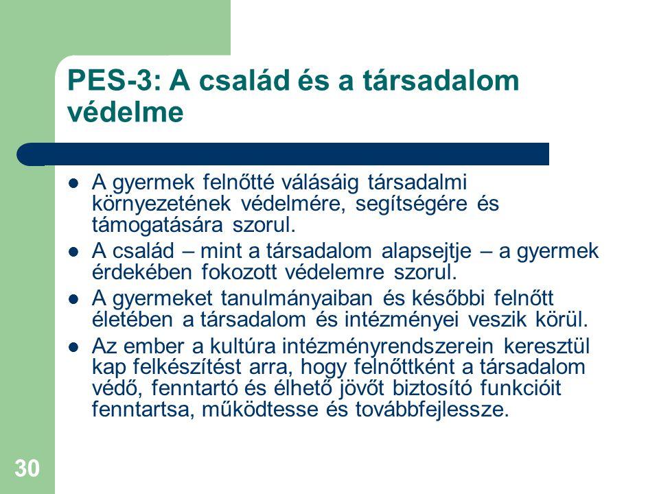 PES-3: A család és a társadalom védelme