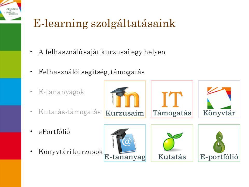 E-learning szolgáltatásaink