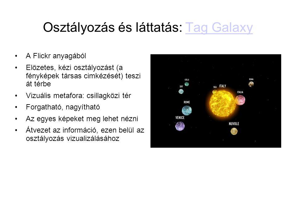 Osztályozás és láttatás: Tag Galaxy