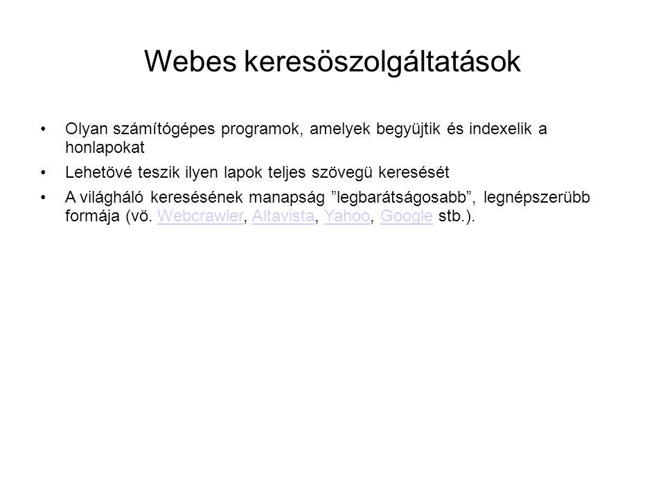 Webes keresöszolgáltatások