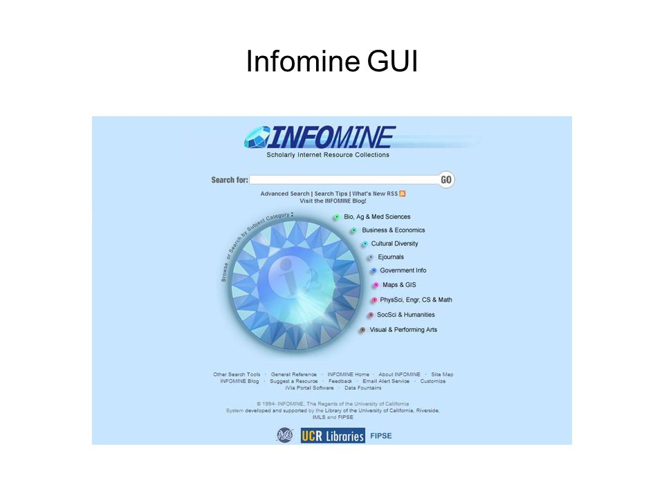 Infomine GUI