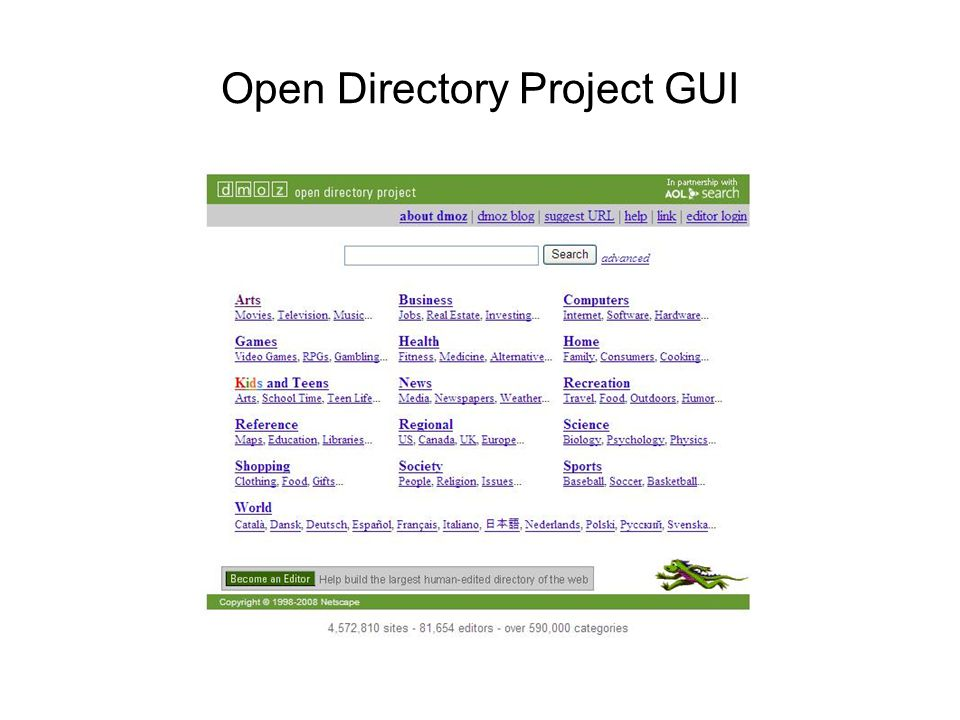 Open Directory Project GUI