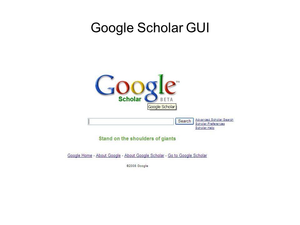 Google Scholar GUI