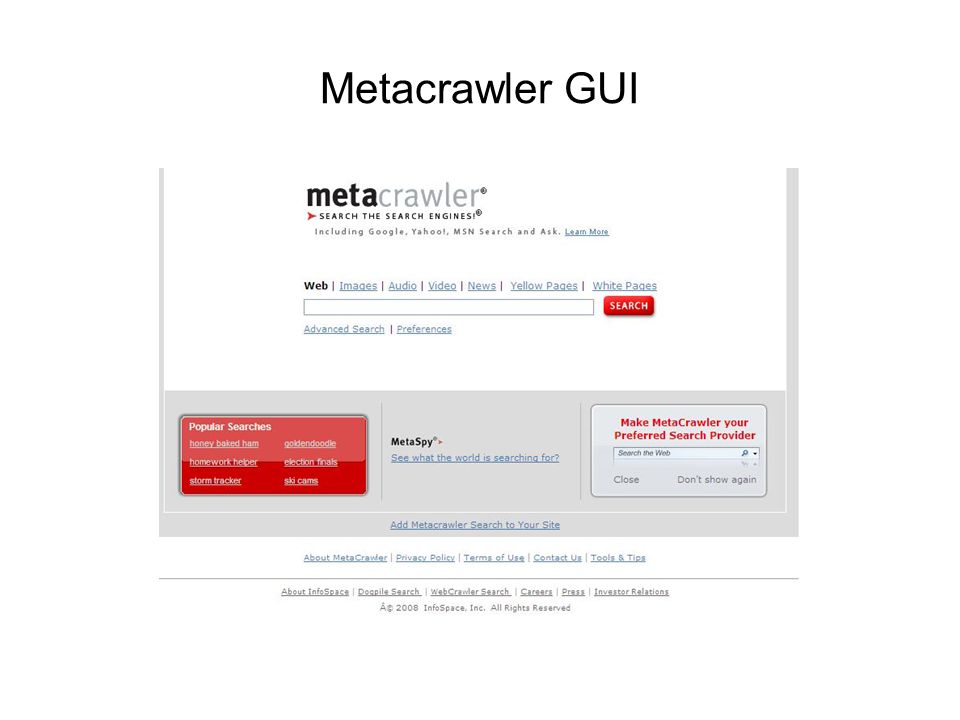 Metacrawler GUI