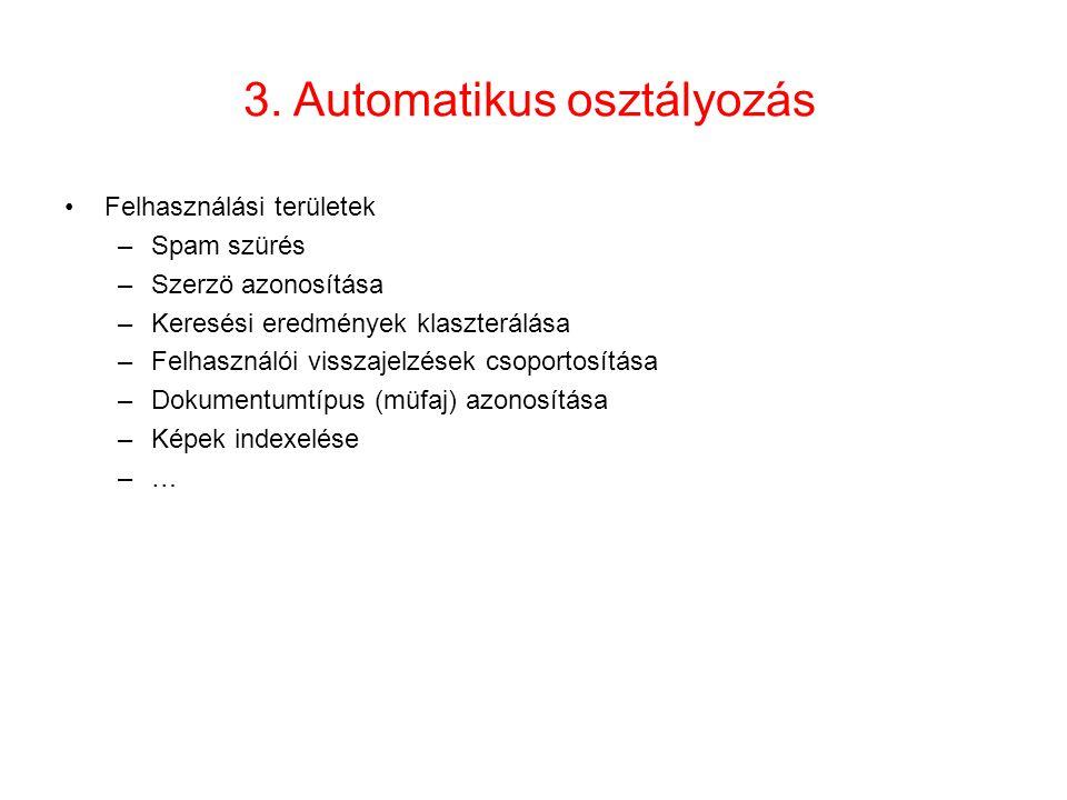 3. Automatikus osztályozás