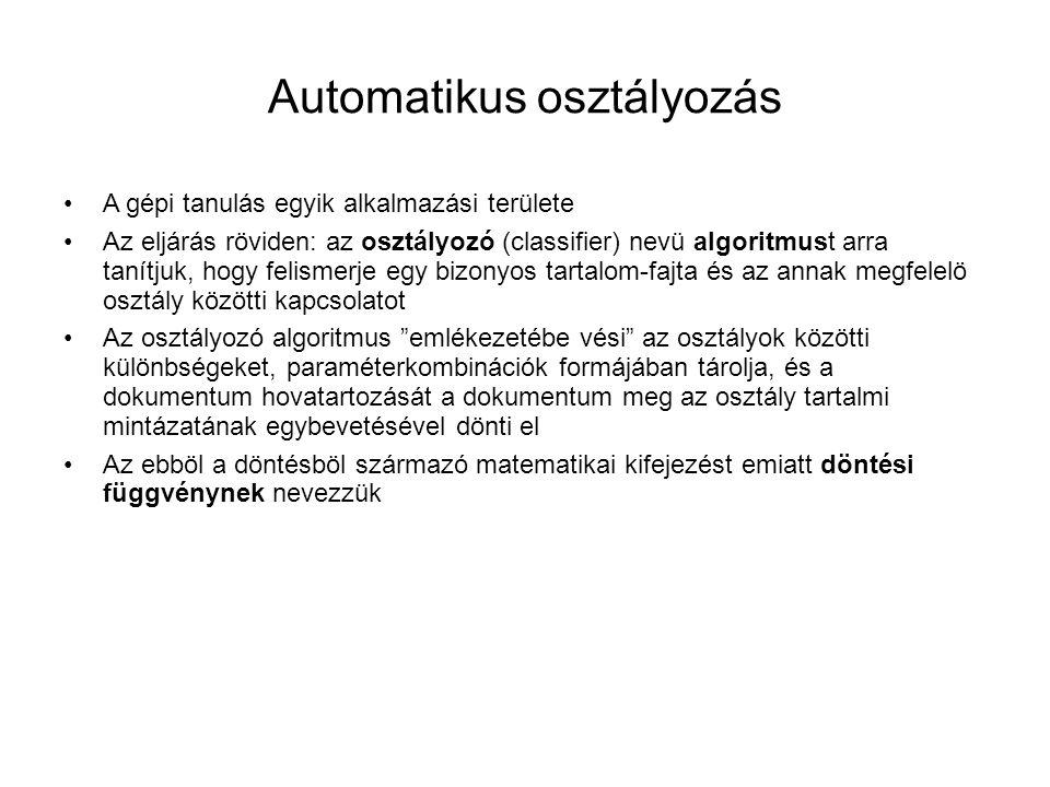 Automatikus osztályozás