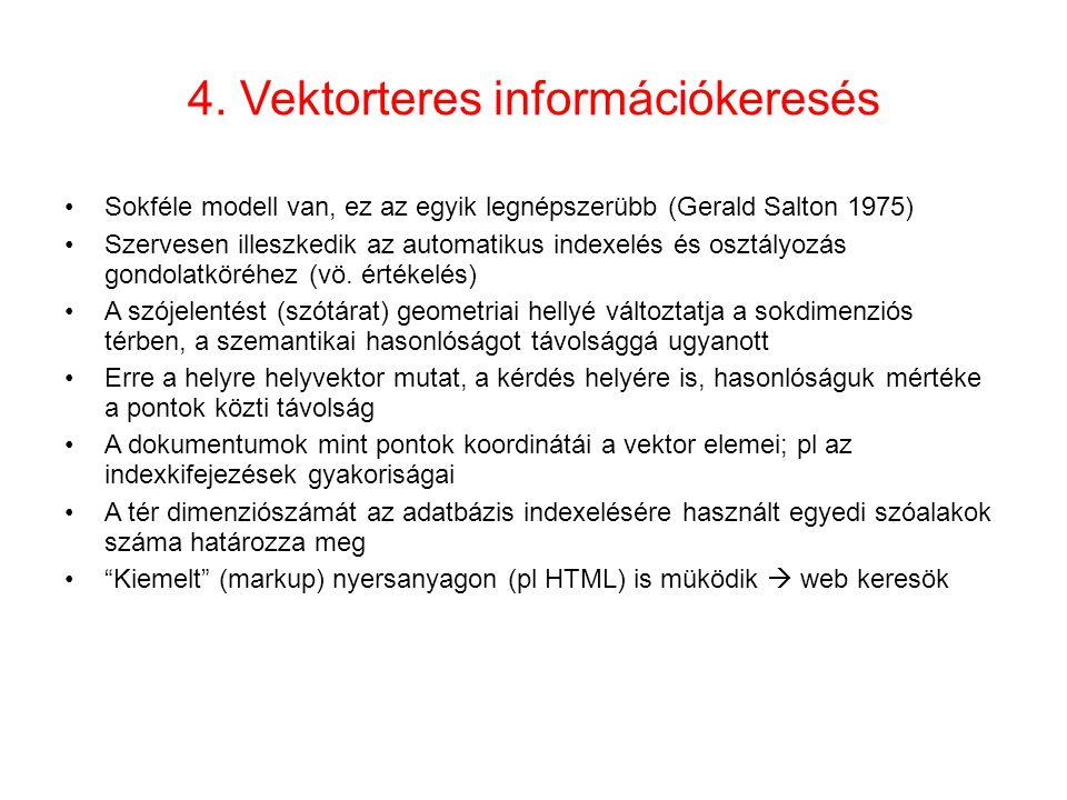 4. Vektorteres információkeresés