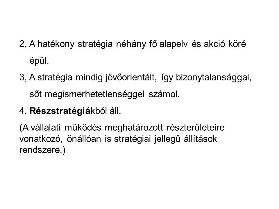 2, A hatékony stratégia néhány fő alapelv és akció köré