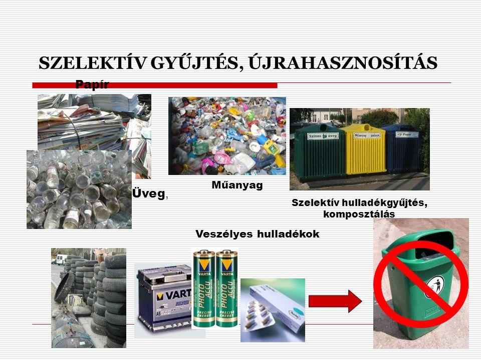 Szelektív hulladékgyűjtés, komposztálás