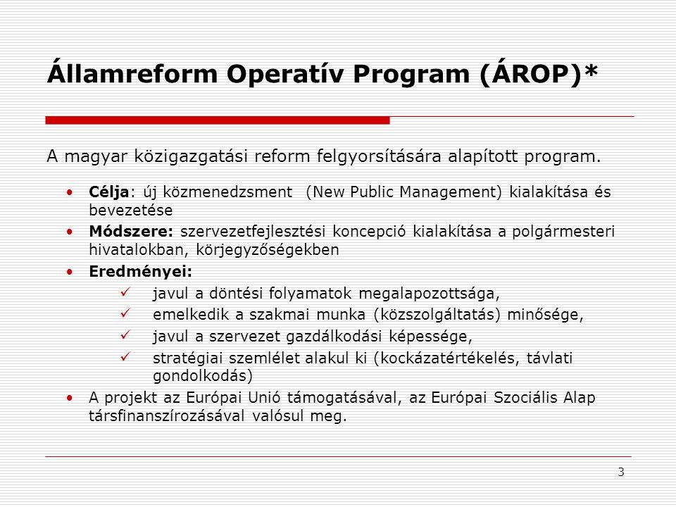 Államreform Operatív Program (ÁROP)*