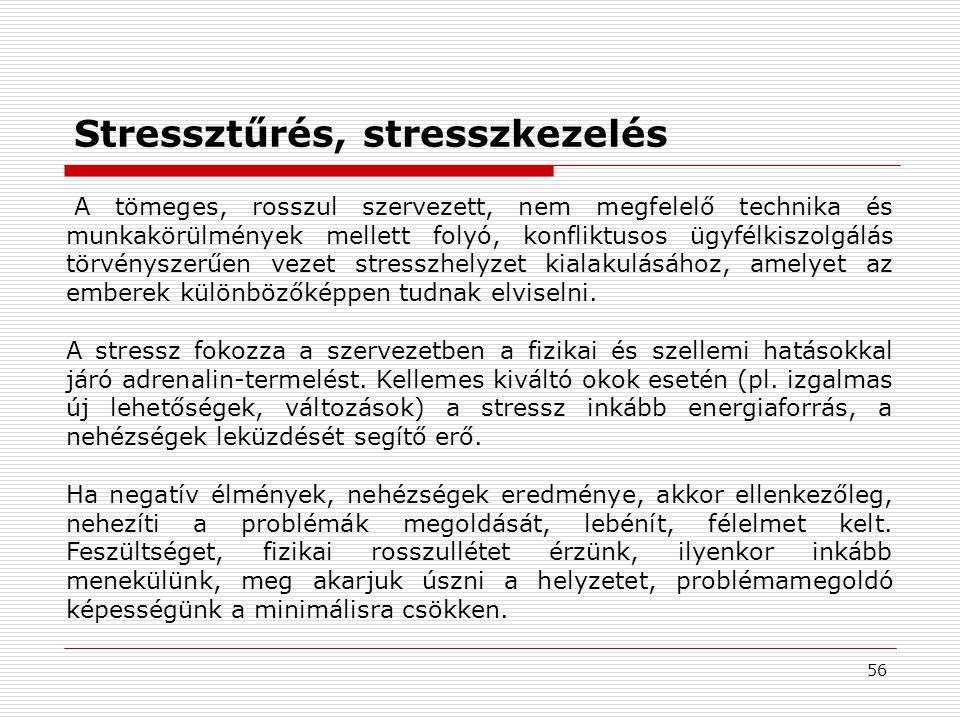 Stressztűrés, stresszkezelés