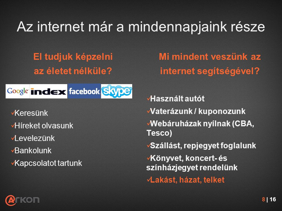 Az internet már a mindennapjaink része