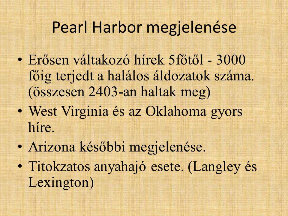 Pearl Harbor megjelenése
