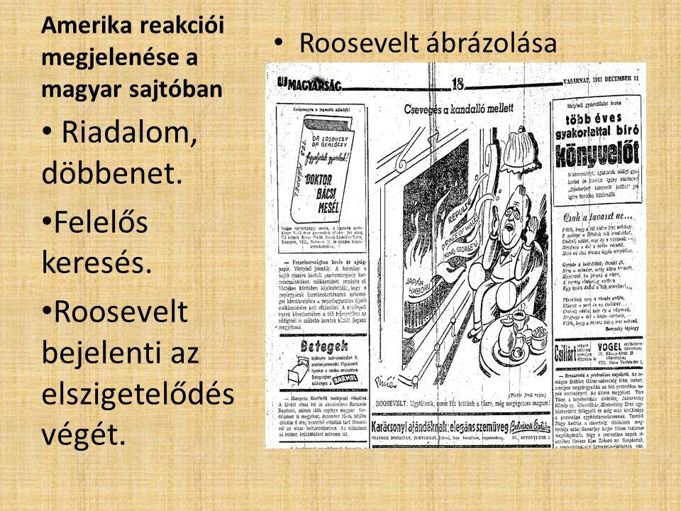 Amerika reakciói megjelenése a magyar sajtóban