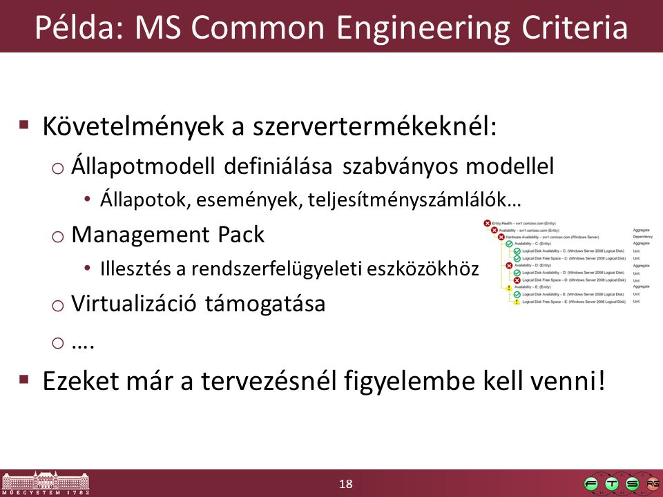 Példa: MS Common Engineering Criteria