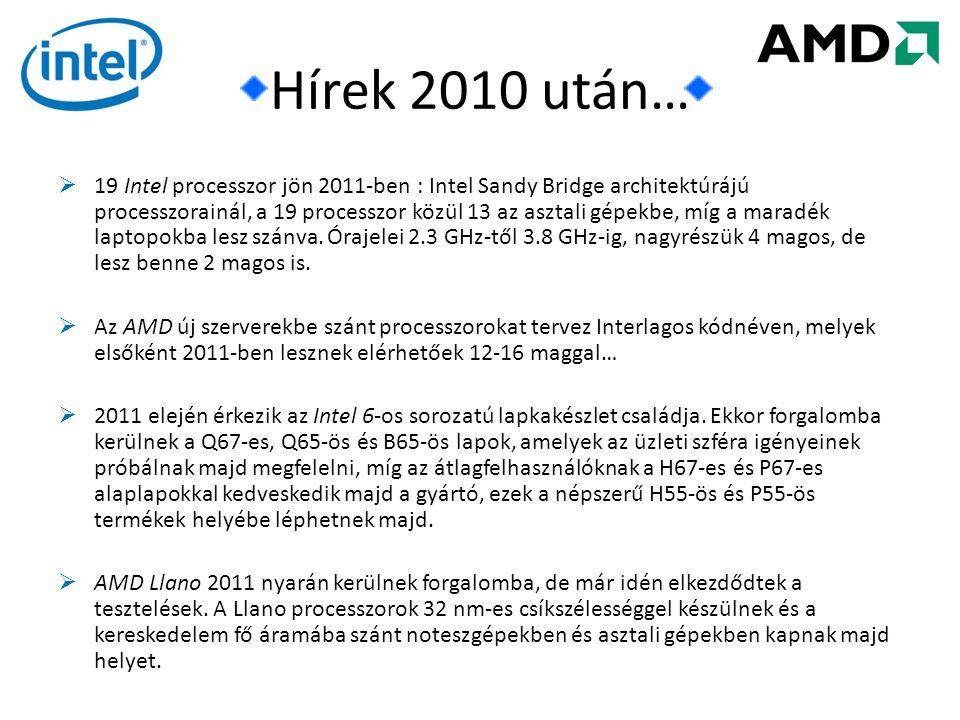 Hírek 2010 után…