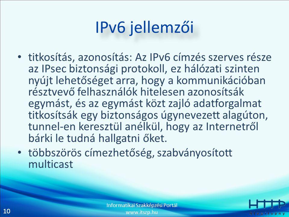 IPv6 jellemzői