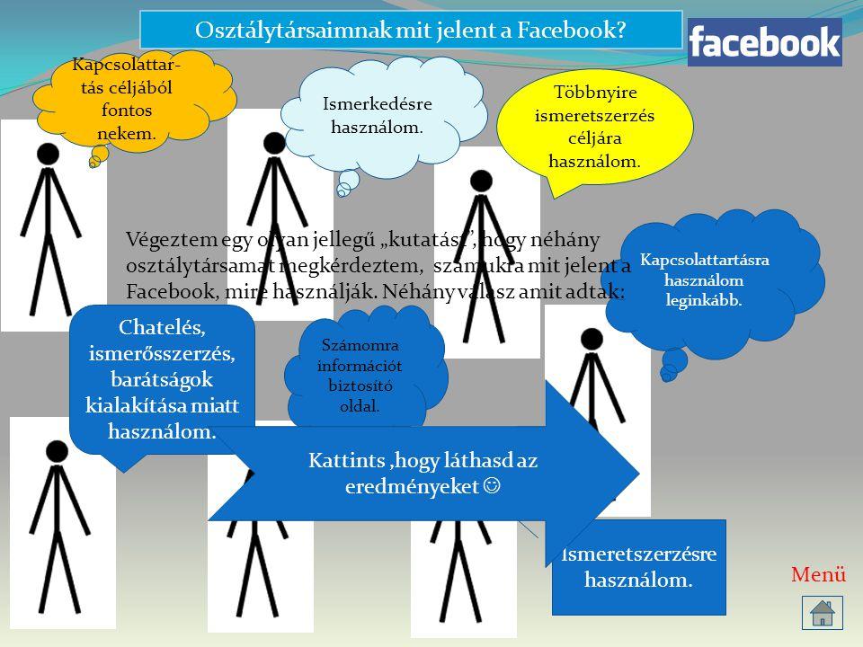 Osztálytársaimnak mit jelent a Facebook