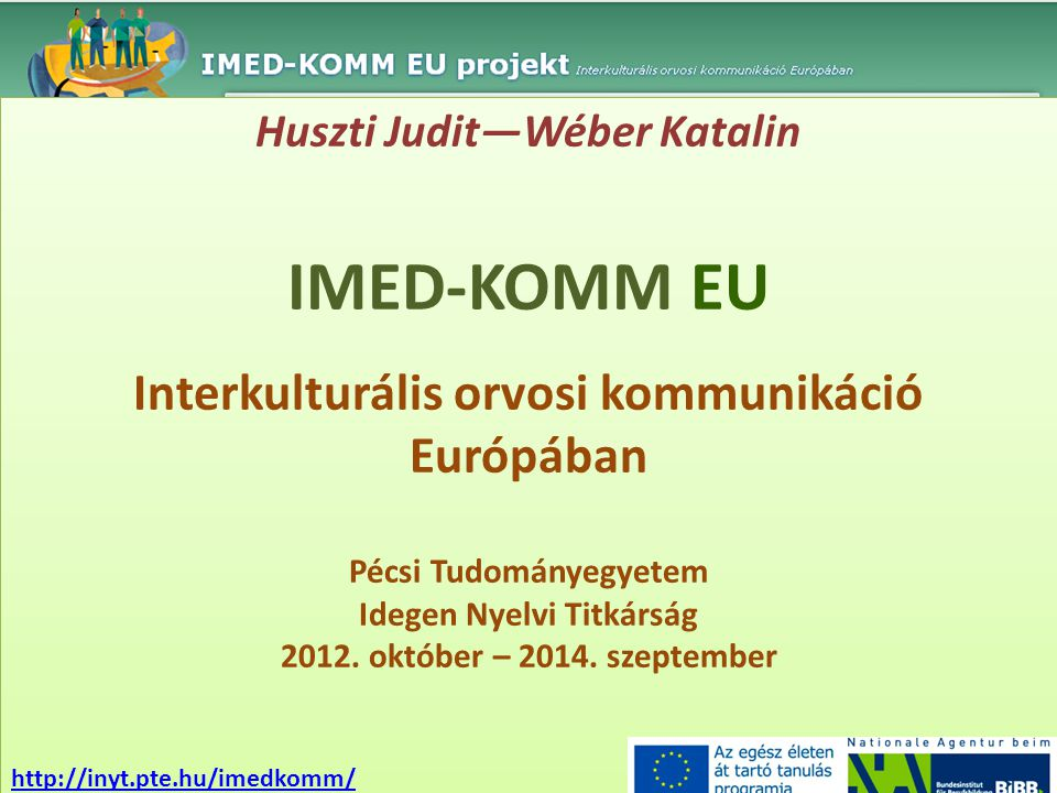 IMED-KOMM EU Interkulturális orvosi kommunikáció Európában