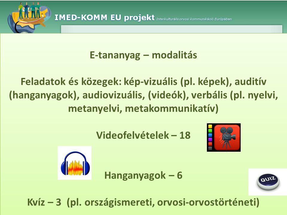 E-tananyag – modalitás