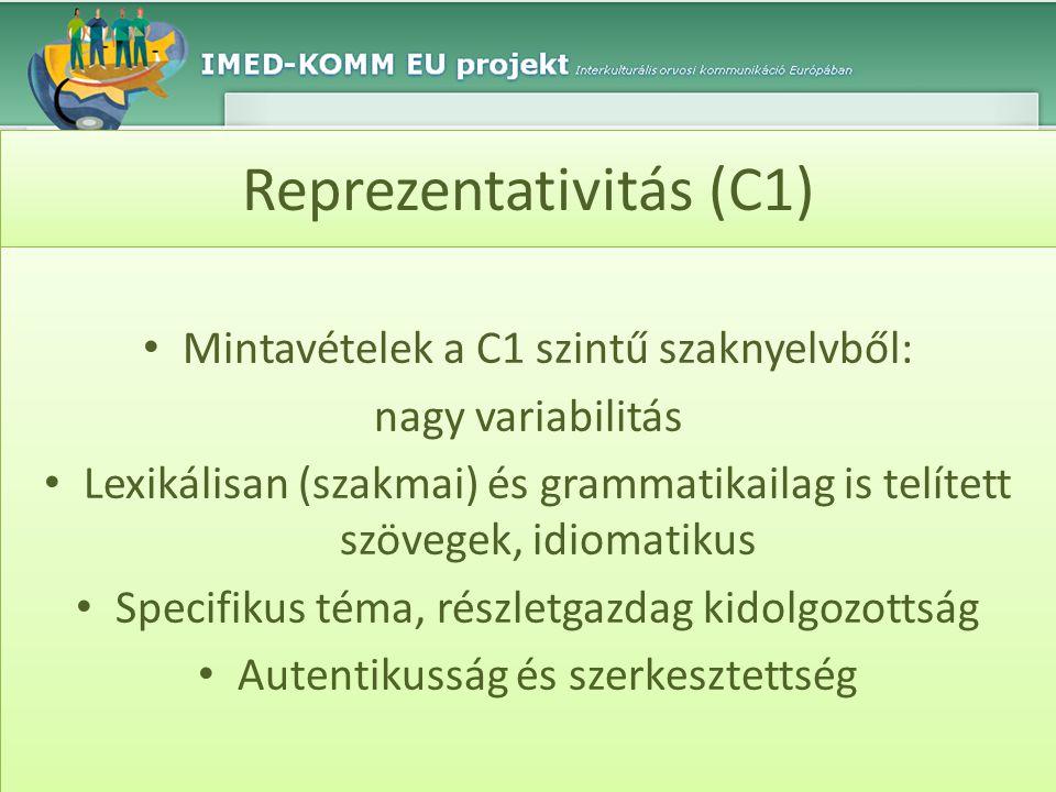 Reprezentativitás (C1)