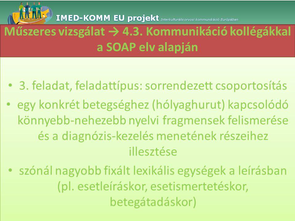 Műszeres vizsgálat → 4.3. Kommunikáció kollégákkal a SOAP elv alapján