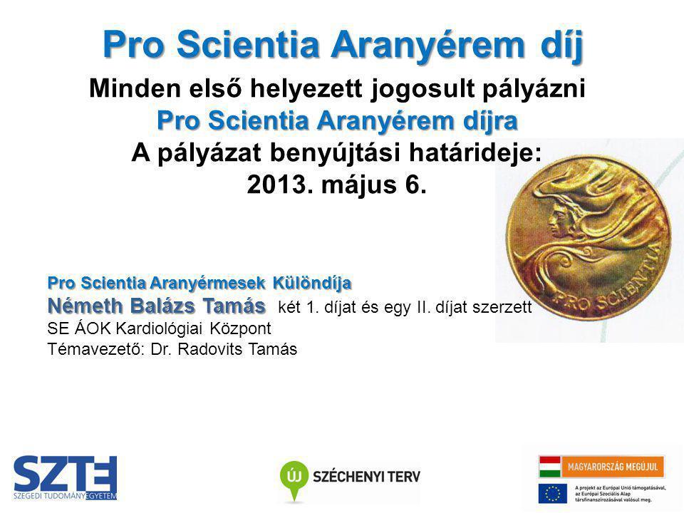 Pro Scientia Aranyérem díj