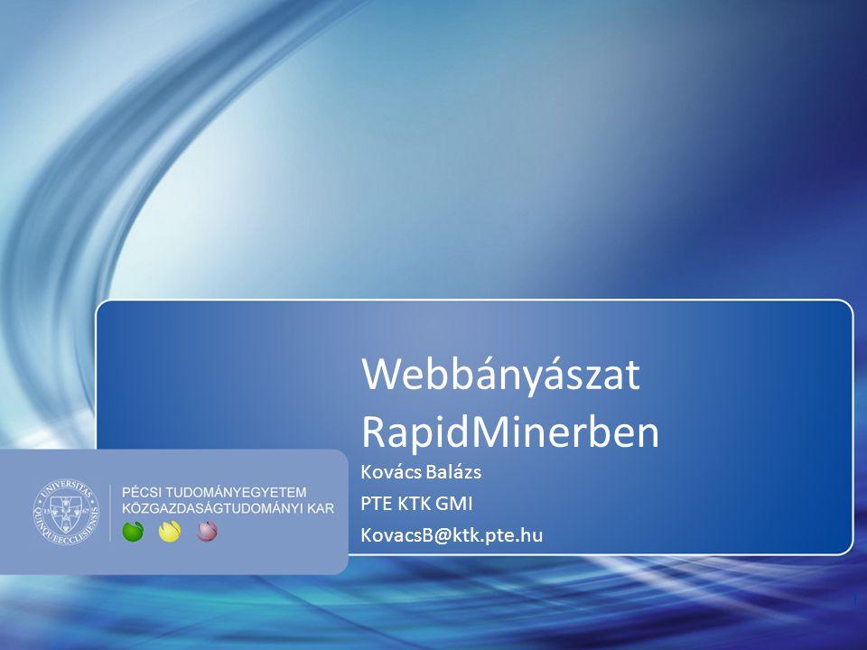 Webbányászat RapidMinerben