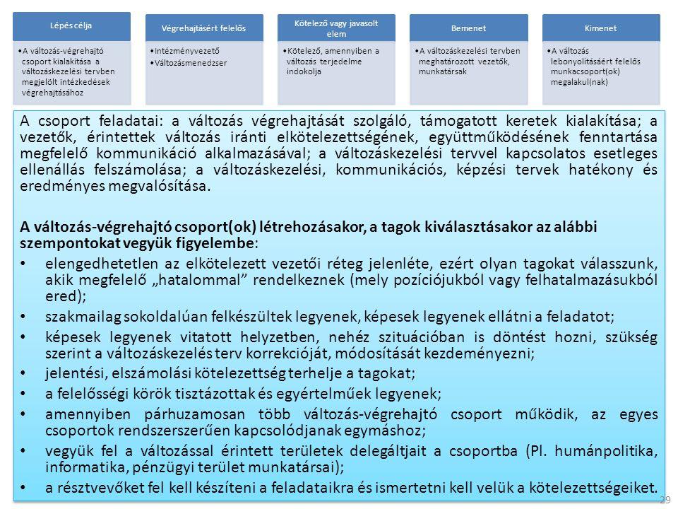 jelentési, elszámolási kötelezettség terhelje a tagokat;