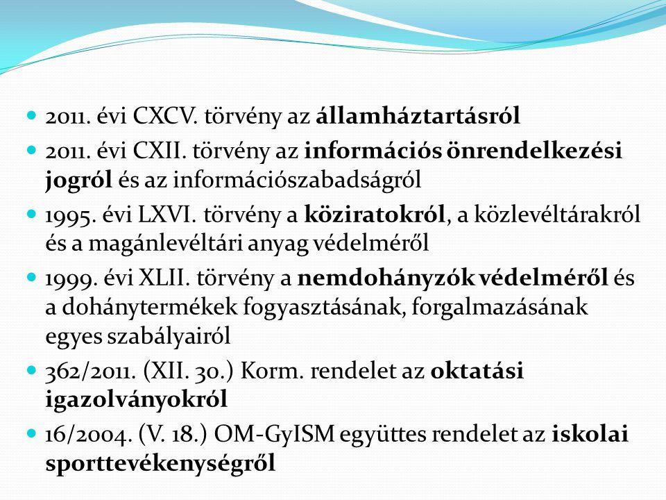 2011. évi CXCV. törvény az államháztartásról