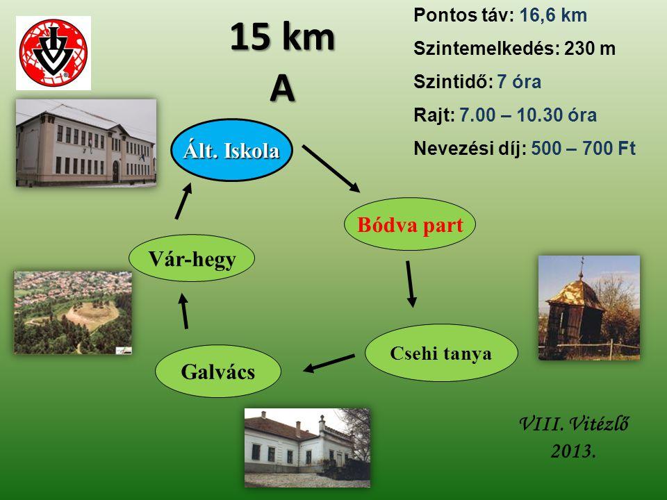 15 km A Ált. Iskola Bódva part Vár-hegy Galvács VIII. Vitézlő 2013.
