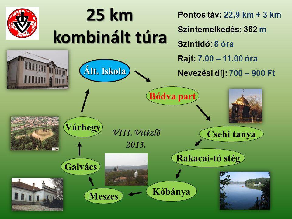 25 km kombinált túra Ált. Iskola Bódva part Várhegy
