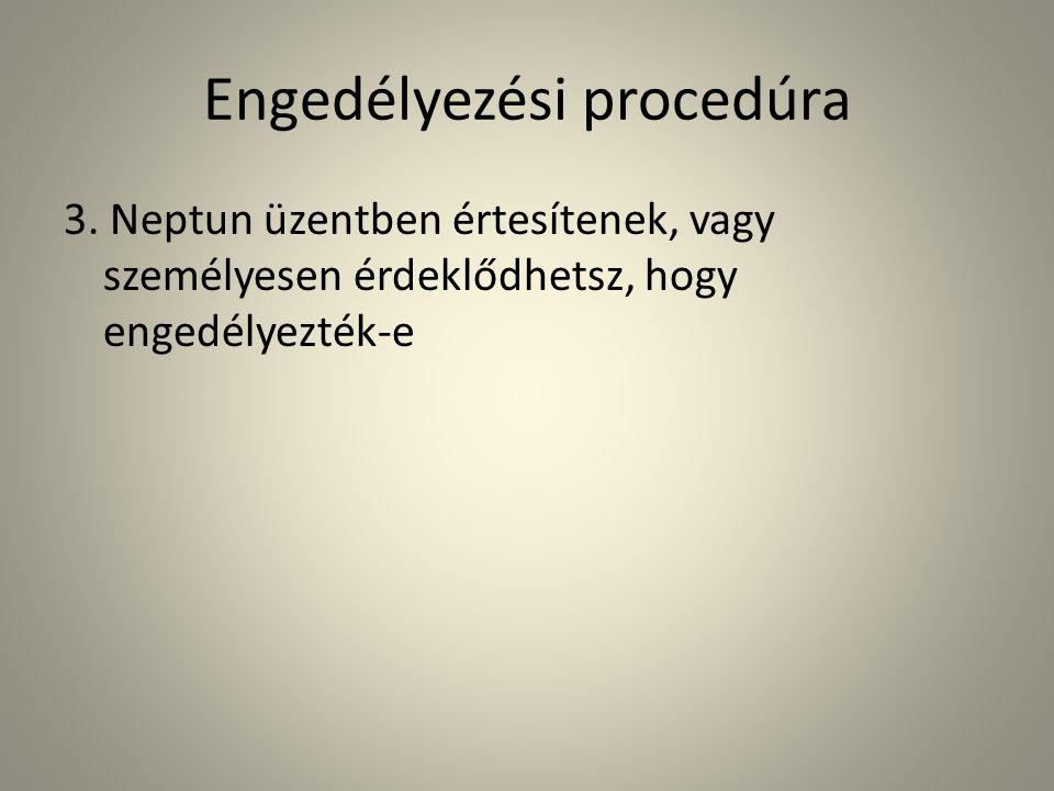 Engedélyezési procedúra