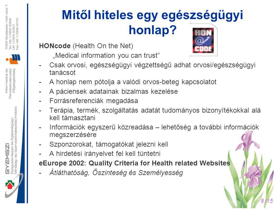 Mitől hiteles egy egészségügyi honlap
